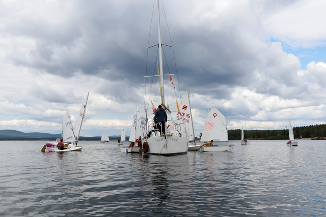 "With the support of ""Lighthouse"" in Ozersk was an open district Cup in sailing"